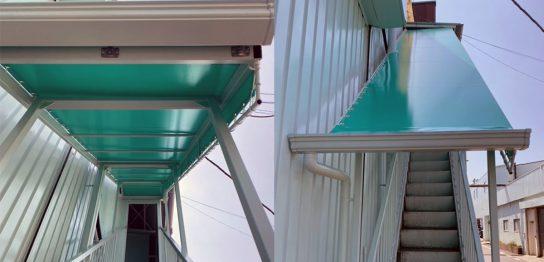 階段テント